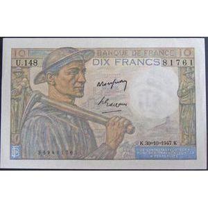 Billets français, Banque de France, 10 Francs Mineur 30-10-1947