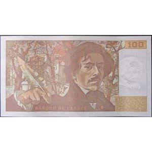 Billets français, Banque de France, 100 Francs Delacroix 1989, F: 69/13a, pr Neuf