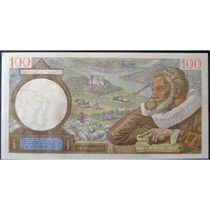 Billets français, Banque de France, 100 Francs Sully 13-3-1941