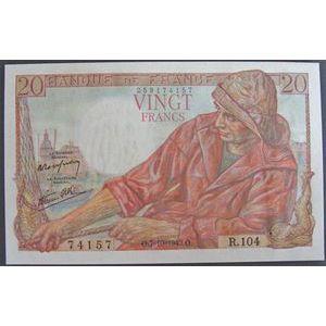 Billets français, Banque de France, 20 Francs Pêcheur 7-10-1943