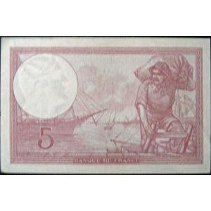 Billets français, Banque de France, 5 Francs Violet 5-10-1939