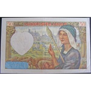 Billets français, Banque de France, 50 Francs Jacques Coeur 20-11-1941