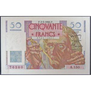 Billets français, Banque de France, 50 Francs Le Verrier 2-3-1950
