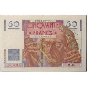 Billets français, Banque de France, 50 Francs Le Verrier 20-3-1947