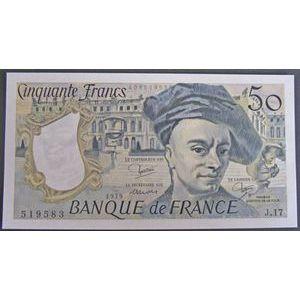 Billets français, Banque de France, 50 Francs Quentin 1979