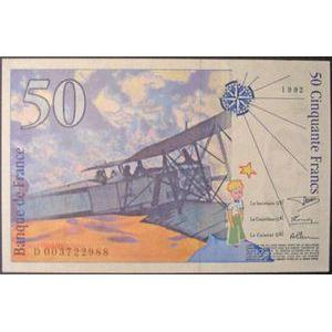 Billets français, Banque de France, 50 Francs Saint-Exupery 1992, F: 72/1, pr Neuf