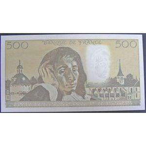 Billets français, Banque de France, 500 Francs Pascal 2-1-1992