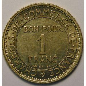 Chambre de Commerce, 1 Franc 1920, SUP, Gadoury: 468