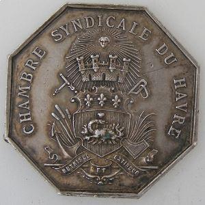 Chambre Syndicale du Havre, argent 33mm, 14.35 Grs, TTB+