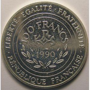 Charlemagne, 100 Francs 1990, SPL+, KM# 982