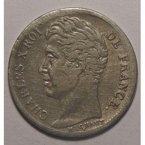 Charles X, 1/2 Franc 1828 K Bordeaux, TB/TB+, Gadoury: 402