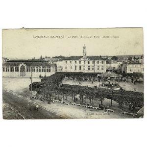 COMMERCY Illustrée - La Place - L'Hôtel de Ville - Marché Couvert