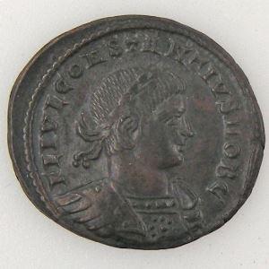 CONSTANCE II, CONSTANTIUS II, Nummus, GLORIA EXERCITVS, SUP