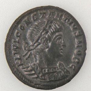 CONSTANCE II, CONSTANTIUS II, Nummus, GLORIA EXERCITVS , SUP