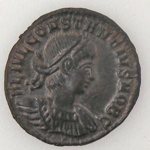 CONSTANCE II, CONSTANTIUS II, Nummus, GLORIA EXERCITVS, SUP+