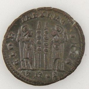 CONSTANCE II, CONSTANTIUS II, Nummus, GLORIA EXERCITVS , SUP+