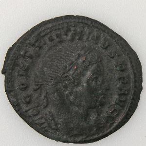 CONSTANTIN I, CONSTANTINUS I, Follis, SOLI INVICTO COMITI, TTB+