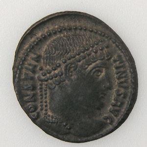 CONSTANTIN I, CONSTANTINUS I, Nummus, PROVIDENTIAE AVGG, SUP