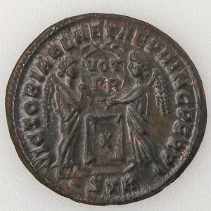 CONSTANTIN I, CONSTANTINUS I, Nummus, VICTORIAE LAETAE PRINC PERP, SUP