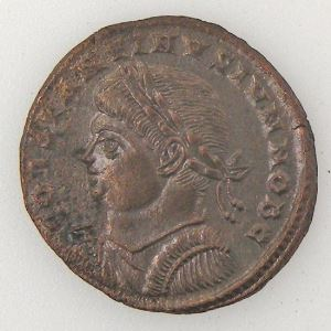 CONSTANTIN II, CONSTANTINUS II, Follis, PROVIDENTIAE CAESS, TTB+/SUP