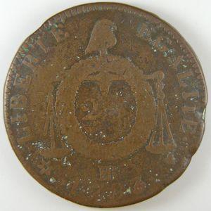 Convention, 2 Sols aux balances 1793 BB, B+/TB, Gadoury: 31