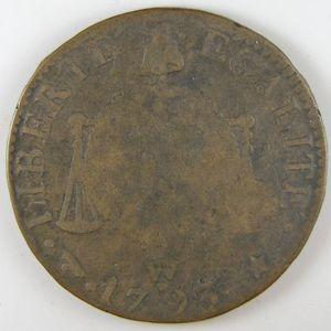 Convention, Sol aux balances 1793 W Arras, B+, Gadoury: 19