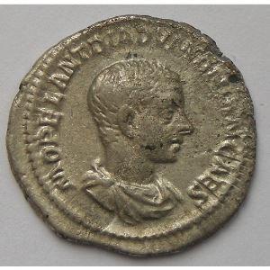 Diaduménien, Diadumenianus, Denier, PRINC IVVENTVTIS, TB+
