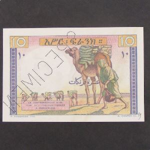 Djibouti, 10 Francs SPECIMEN ND, XF+