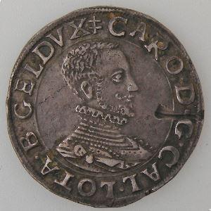 Duché de Lorraine, Charles III (1545-1608), Teston au buste viril