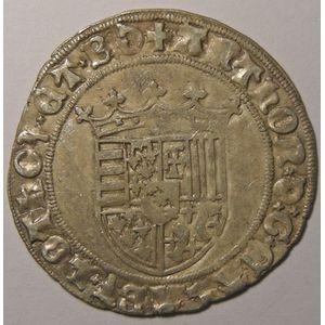Duché de Lorraine, Antoine(1508-1544), Double gros de trois gros, Flon P 597 N° 80-83, 3.25 grs, TTB
