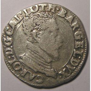 Duché de Lorraine, Charles III (1545-1608), Teston, Flon P 656 N°132-138, TB+