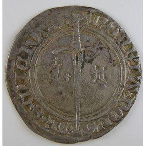 Duché de Lorraine, René I (1431-1453), Gros de St Mihiel, Flon P434 N°1 Var, TB+