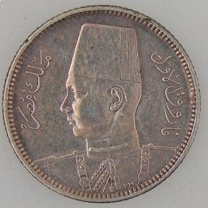 Egypte, Egypt, 2 Piastres 1937, TTB+, KM#365