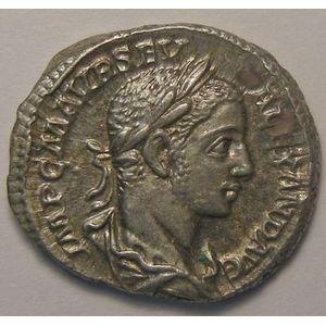 Empire romain, Alexander Severus, Denier, R/ VICTORIA AVG, 3.68 Grs, TTB+/SUP