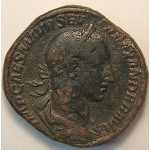 Empire romain, Alexander Severus, Sesterce, R/ ROMAE AETERNAE  SC, 24.56 Grs, TB+