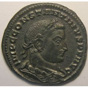 Empire romain, Constantin I, Follis, R/ GENIO POP ROM, 6.56 Grs, TTB+/SUP