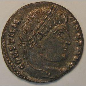 Empire romain, Constantinus I, Nummus, R/ SARMATIA DEVICTA , 3.46 Grs, TTB+/SUP