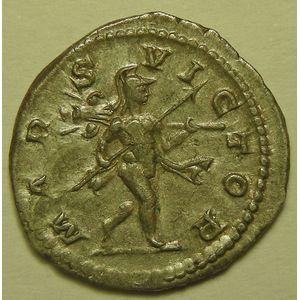 Empire romain, Elagabale, Denier, R/ MARS VICTOR, 3.55 Grs, TTB+