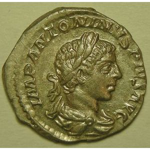 Empire romain, Elagabale, Denier, R/ PAX AVGVSTI, 2.93 Grs, SUP