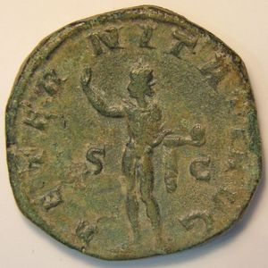 Empire romain, Gordianus III, Sesterce, R/ AETERNITATI AVG  SC, 16.30 Grs, TTB