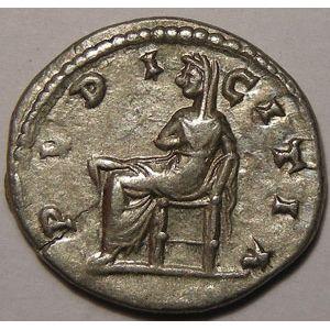 Empire romain, Julia Domna, Denier, R/ PVDICITIA, 2.27 Grs, TTB/TTB+