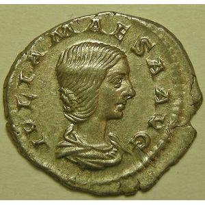 Empire romain, Julia Maesa, Denier, R/ PIETAS AVG, 2.54 Grs, TTB/TTB+