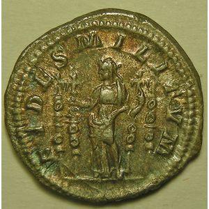 Empire romain, Macrinus, Denier, R/ FIDES MILITVM, 2.31 Grs, TTB/TTB+