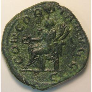 Empire romain, Otacilia Severa, Sesterce, R/ CONCORDIA AVGG  SC, 18.22 Grs, TTB