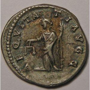 Empire romain, Septime Severe, Denier, R/ AEQVITATI AVGG, 3.17 Grs, TTB/TTB+