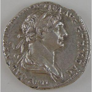 Empire romain, Trajan, Denier, R/ SALVS AVG // PARTHICO P M TR P COS VI P P SPQR, 3.32 Grs, SUP