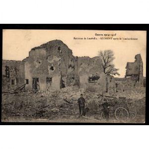 Environs de LUNEVILLE - LEOMONT aprés le Bombardement - Guerre 1914-1915