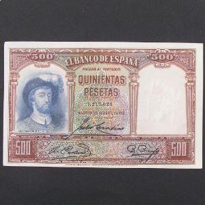 Espagne, 500 Pesetas 25.4.1931 , XF