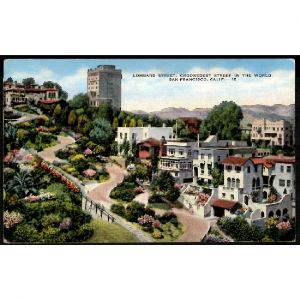 ETATS UNIS - SAN FRANCISCO -  Lombard Street - Crookedest Street in the World