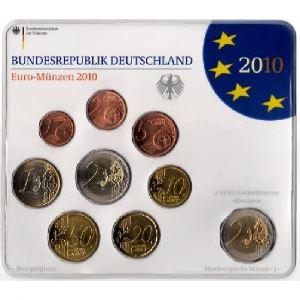 Euro, Allemagne, coffret Brillant Universel 2010 A-D-F-G-J